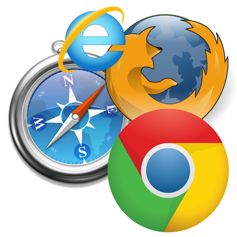 Mozilla Firefox Chrome Safari IE browser ブラウザ